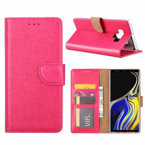Luxe Lederen Bookcase hoesje  Roze