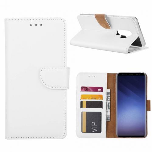 Luxe Lederen Bookcase hoesje  Wit