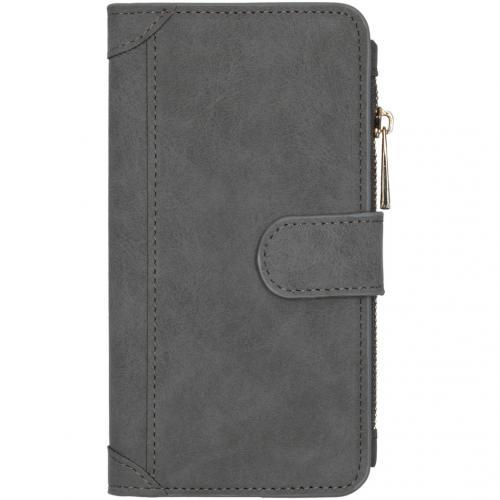 Luxe Portemonnee voor de iPhone 12 6.1 inch - Grijs