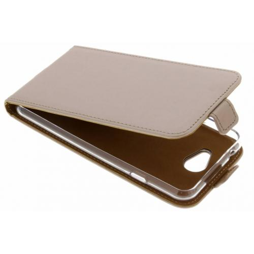 Luxe Softcase Flipcase voor General Mobile GM6 - Goud