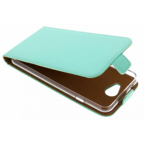 Luxe Softcase Flipcase voor General Mobile GM6 - Mintgroen
