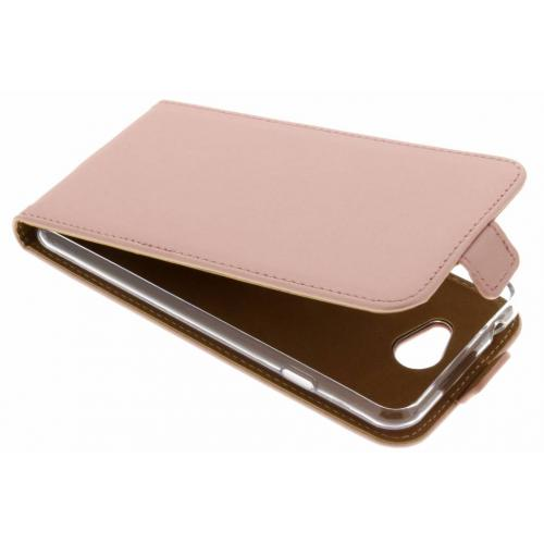 Luxe Softcase Flipcase voor General Mobile GM6 - Rosé goud