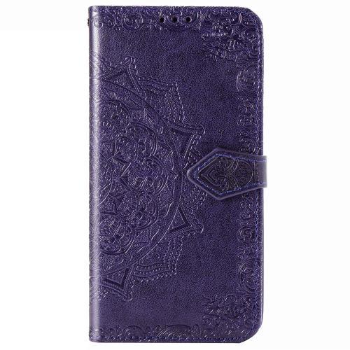 Mandala Booktype voor de iPhone 12 5.4 inch - Paars
