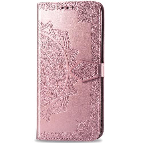 Mandala Booktype voor de iPhone 12 5.4 inch - Rosé Goud