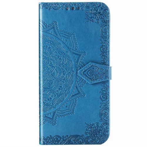 Mandala Booktype voor de iPhone 12 6.1 inch - Turquoise
