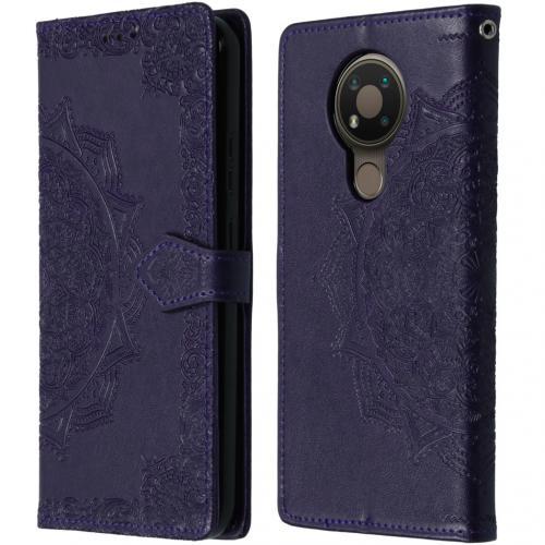 Mandala Booktype voor de Nokia 3.4 - Paars