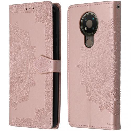 Mandala Booktype voor de Nokia 3.4 - Rosé Goud