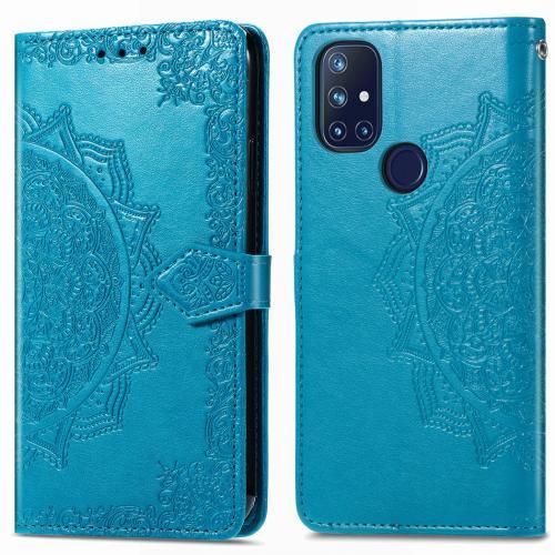 Mandala Booktype voor de OnePlus Nord N10 5G - Turquoise