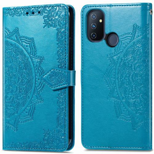 Mandala Booktype voor de OnePlus Nord N100 - Turquoise