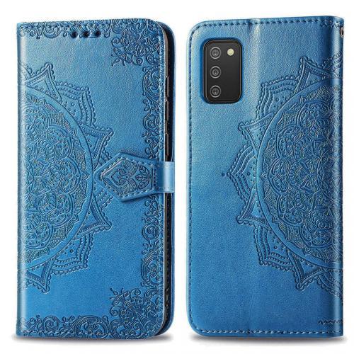 Mandala Booktype voor de Samsung Galaxy A02s - Turquoise