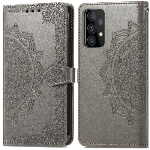 Mandala Booktype voor de Samsung Galaxy A52 (5G) / A52 (4G) - Grijs