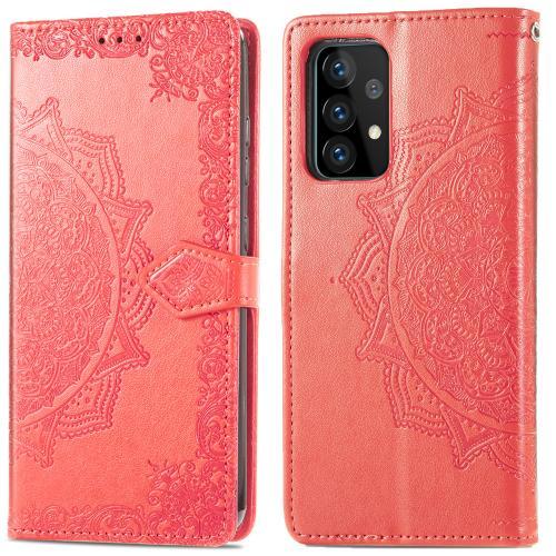 Mandala Booktype voor de Samsung Galaxy A52 (5G) / A52 (4G) - Rood