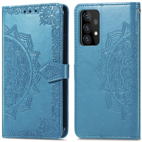 Mandala Booktype voor de Samsung Galaxy A52 (5G) / A52 (4G) - Turquoise