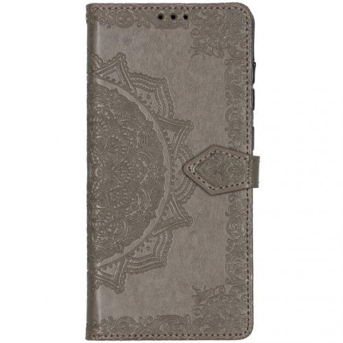 Mandala Booktype voor de Samsung Galaxy A71 - Grijs