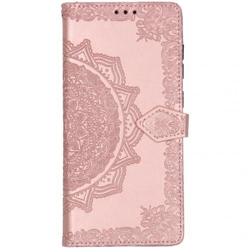 Mandala Booktype voor de Samsung Galaxy A71 - Lichtroze