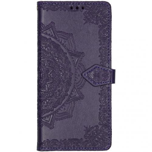 Mandala Booktype voor de Samsung Galaxy A71 - Paars