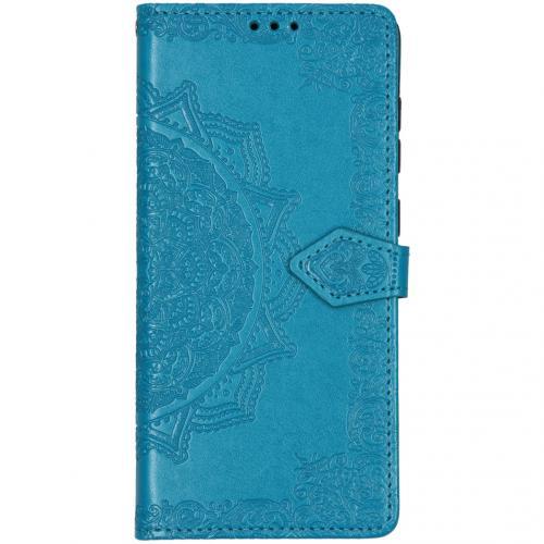 Mandala Booktype voor de Samsung Galaxy A71 - Turquoise