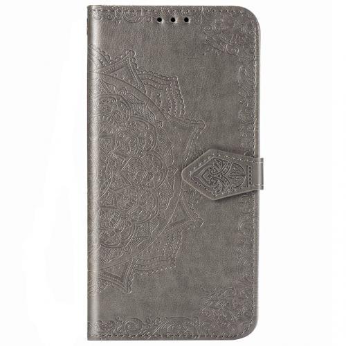 Mandala Booktype voor de Samsung Galaxy Note 20 Ultra - Grijs