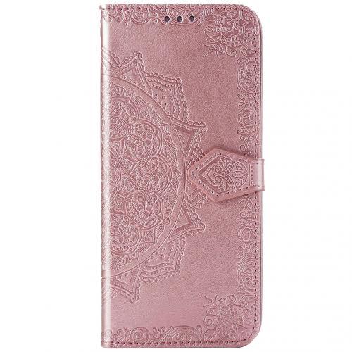 Mandala Booktype voor de Sony Xperia 5 - Rosé Goud