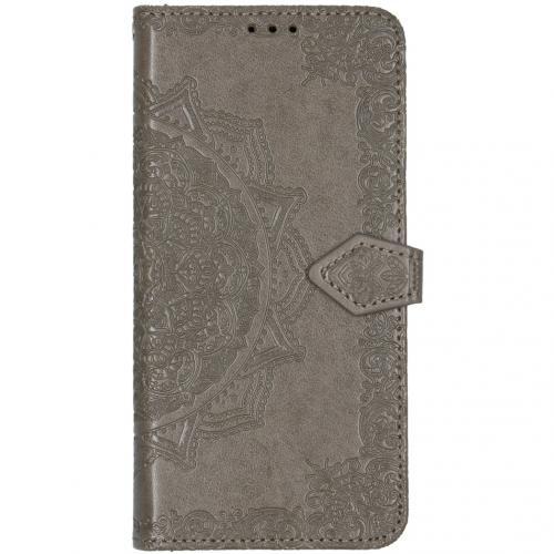 Mandala Booktype voor de Xiaomi Mi Note 10 Pro - Grijs