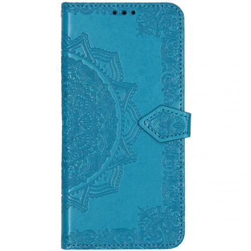 Mandala Booktype voor de Xiaomi Mi Note 10 Pro - Turquoise