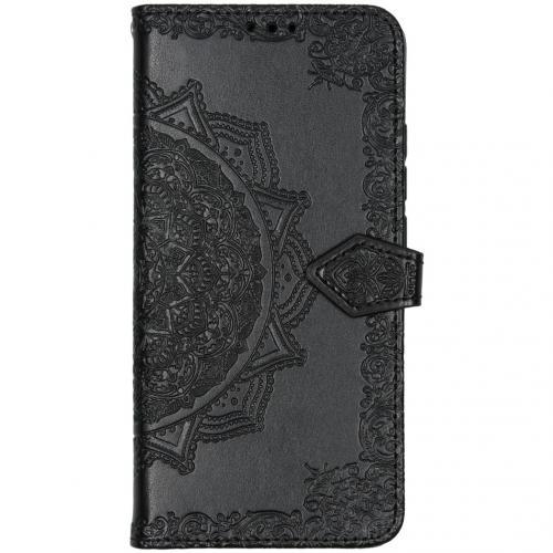 Mandala Booktype voor de Xiaomi Mi Note 10 Pro - Zwart