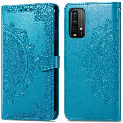 Mandala Booktype voor de Xiaomi Redmi Note 9T (5G) - Turquoise