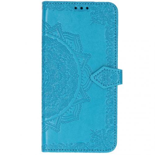 Mandala Booktype voor Xiaomi Mi Note 10 - Turquoise
