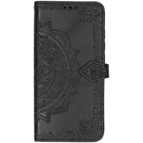 Mandala Booktype voor Xiaomi Mi Note 10 - Zwart