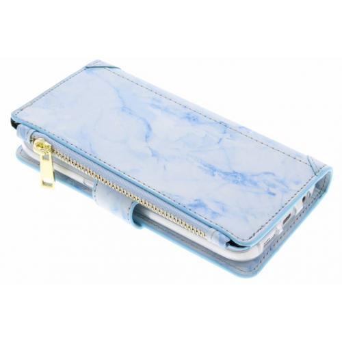Marmer Design Portemonnee voor Samsung Galaxy S7 - Blauw