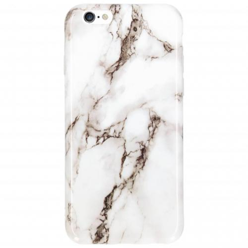 Marmer Softcase Backcover voor iPhone 6 / 6s - Wit