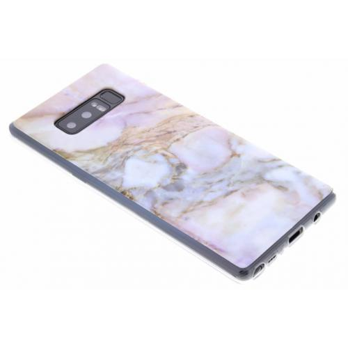Marmer Softcase Backcover voor Samsung Galaxy Note 8 - Roze