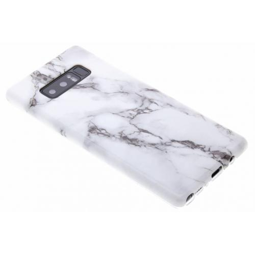 Marmer Softcase Backcover voor Samsung Galaxy Note 8 - Wit