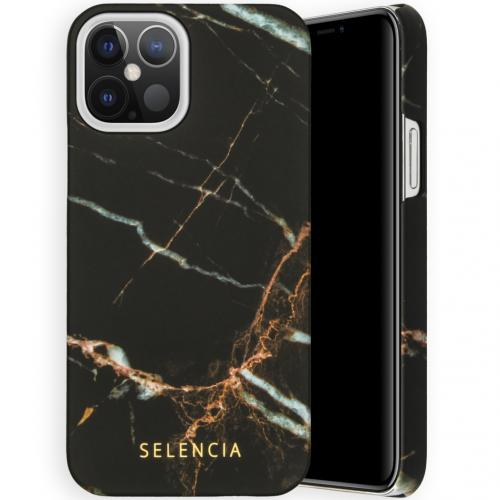 Maya Fashion Backcover voor de iPhone 12 6.1 inch - Marble Black