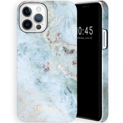 Maya Fashion Backcover voor de iPhone 12 (Pro) - Marble Blue