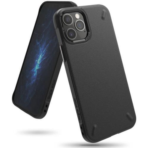 Onyx Backcover voor de iPhone 12 (Pro) - Zwart
