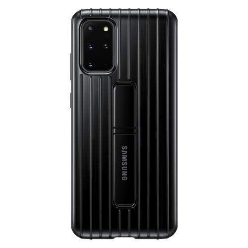 Protective Standing Backcover voor de Galaxy S20 Plus - Zwart