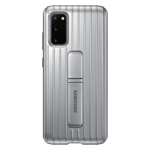 Protective Standing Backcover voor de Galaxy S20 - Zilver