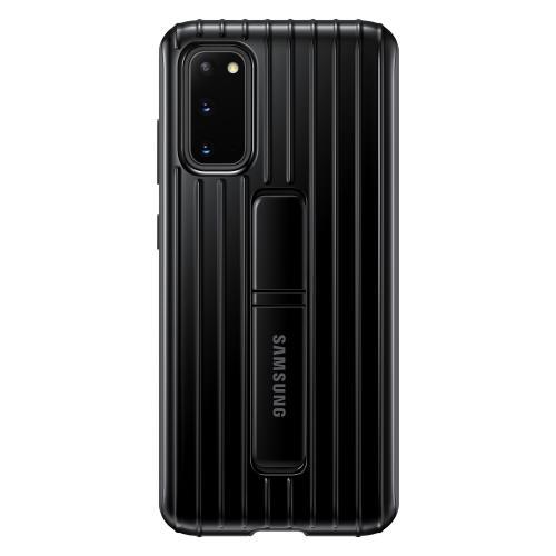 Protective Standing Backcover voor de Galaxy S20 - Zwart