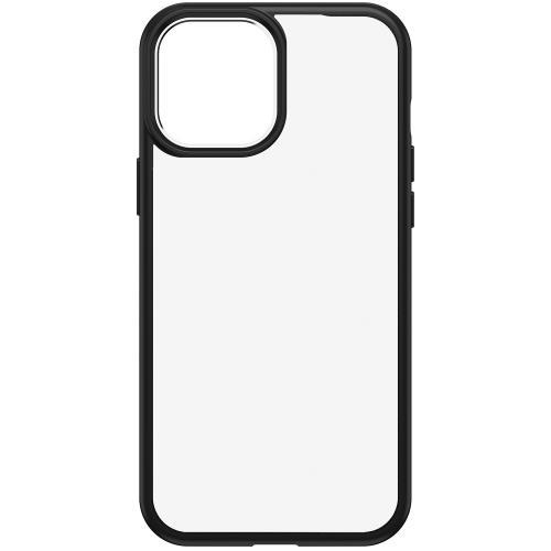 React Backcover voor de iPhone 12 Pro Max - Zwart