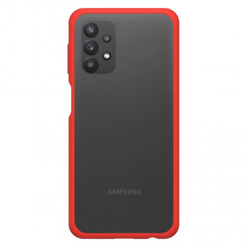 React Backcover voor de Samsung Galaxy A32 (5G) - Transparant / Rood