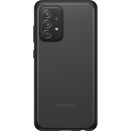 React Backcover voor de Samsung Galaxy A52 (5G) / A52 (4G) - Transparant / Zwart