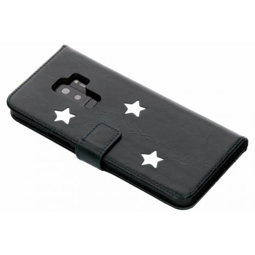 Reversed Star Booktype voor Samsung Galaxy S9 Plus - Zwart