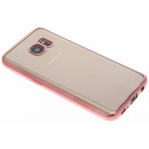 Rosé Gouden Chrome Edge Gel Case voor de Samsung Galaxy S7
