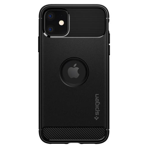 Rugged Armor Backcover voor de iPhone 11 - Zwart