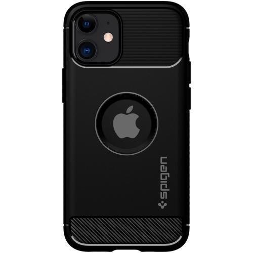 Rugged Armor Backcover voor de iPhone 12 Mini - Zwart