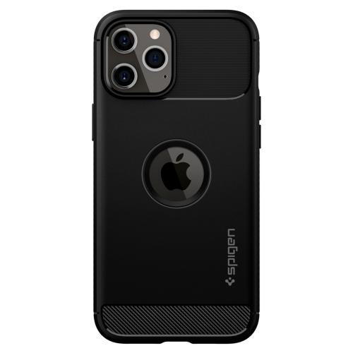 Rugged Armor Backcover voor de iPhone 12 (Pro) - Zwart