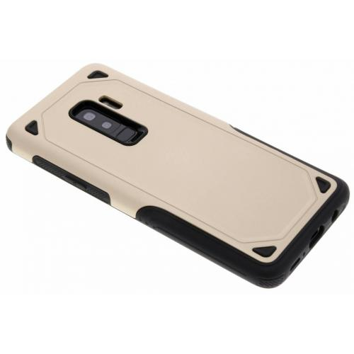 Rugged Hardcase Backcover voor Samsung Galaxy S9 Plus - Goud