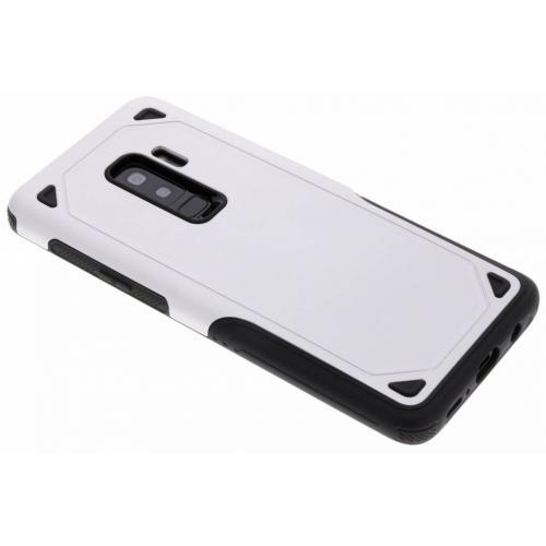 Rugged Hardcase Backcover voor Samsung Galaxy S9 Plus - Zilver