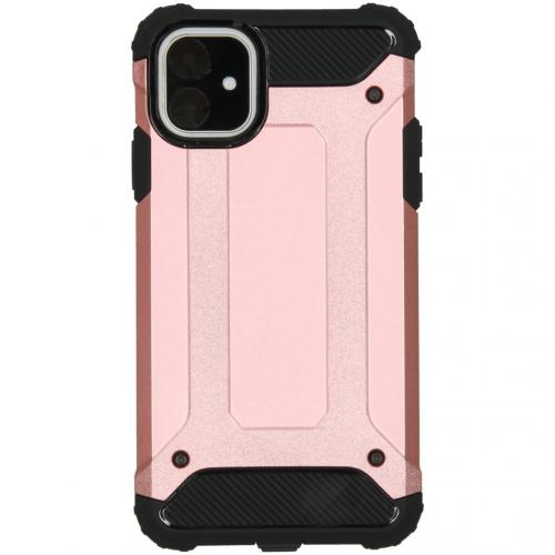 Rugged Xtreme Backcover voor de iPhone 11 - Rosé Goud